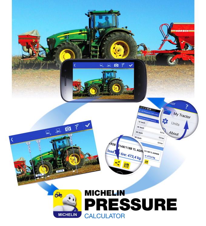 Michelin aplicatie calculare presiune anvelope agricole