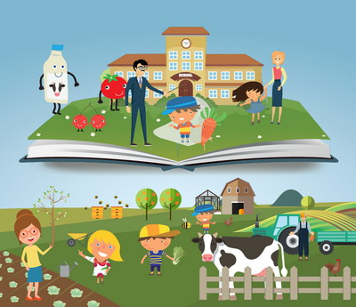 lapte fructe si legume in anul scolar 2019-2020 gratie programului UE