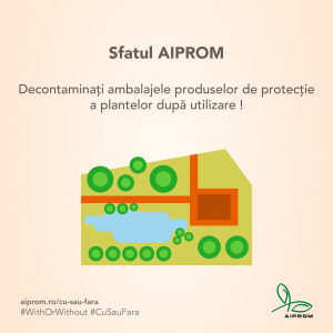Decontaminati ambalajele produselor de protectie a plantelor dupa utilizare