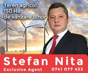 Teren agricol de vazare Bihor 150Ha - Stefan Nita - Exclusive Agent
