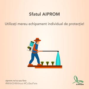 Purtarea echipamentului individual de protectie este obligatorie pentru a evita contactul direct cu produsele de protectie a plantelor