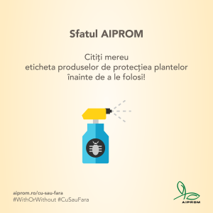 Citeste mereu eticheta produselor de protectie a plantelor inainte de a le folosi
