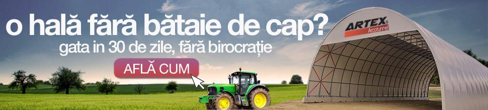 Artex - O hala agricola fara bataie de cap, gata in 30 de zile, fara birocratie
