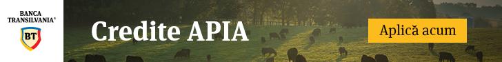 Credite APIA pentru finantarea fermierilor pe baza platilor pe suprafata precum si a subventiilor pentru bunastarea animalelor (pasari, porcine, bovine, ovine si caprine).