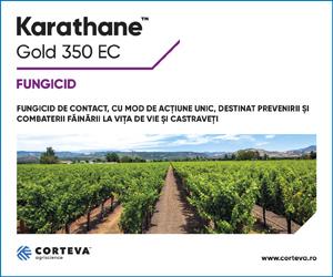 Karathane™ Gold 350 EC - Fungicid de contact, cu mod de actiune unic, destinat prevenirii si combaterii fainării la vita de vie si castraveti.