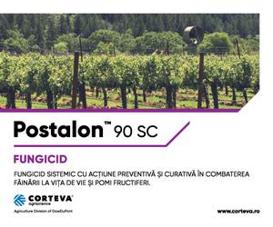 Postalon™ 90 SC - Fungicid sistemic, cu actiune preventiva si curativa in combaterea fainarii la viata de vie si pomi fructiferi